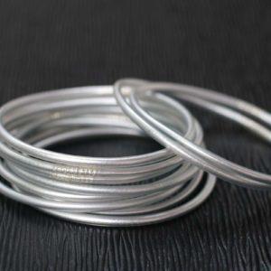Silver Buddhist Temple Bracelet