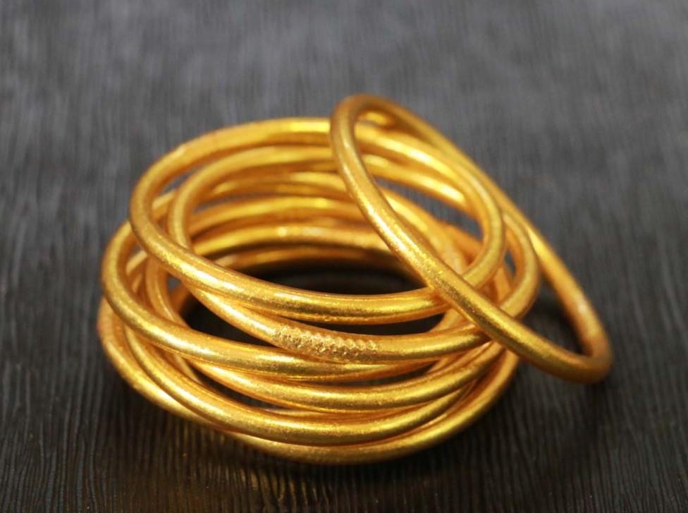 Gold Leaf Filled Thai Bangles